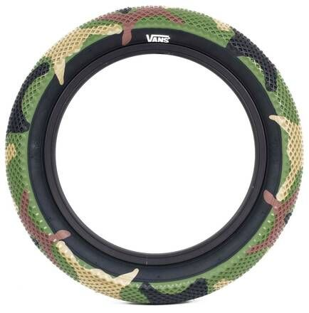 "Cult 12"" Vans Tyre - Camo With Black Sidewall 2.20"""