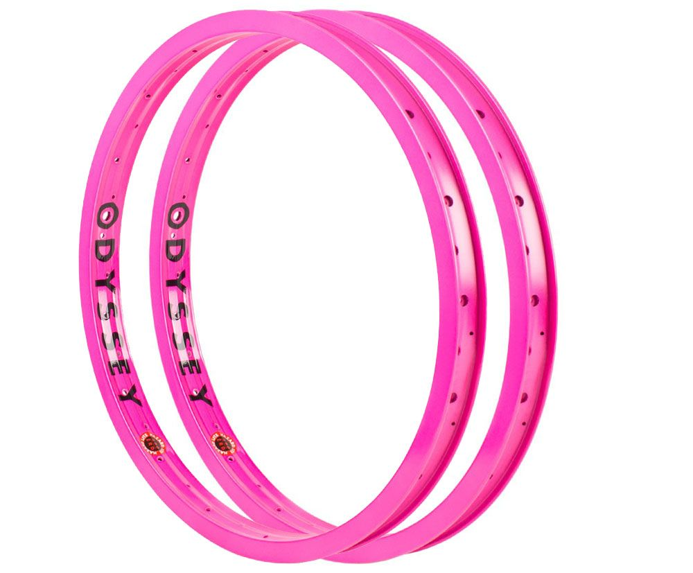 Pair of Odyssey Hazard Lite Rims in Hot Pink